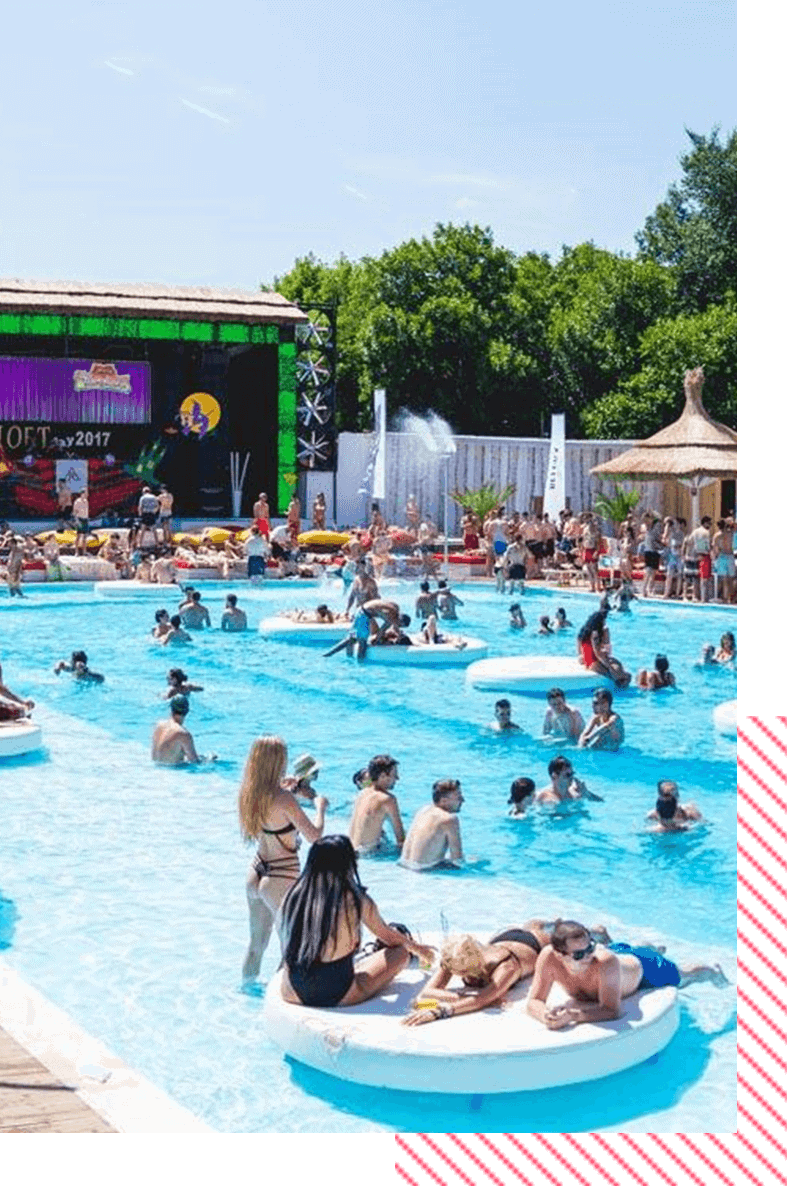 pool parties Bucharest