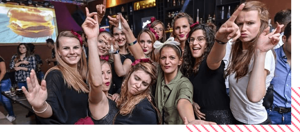 bachelorettes party in Bucharest mob